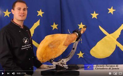 ▷¿Cómo limpiar un jamón? ✅ Curso Gratuito de la Escuela Europea de Cortadores de Jamón